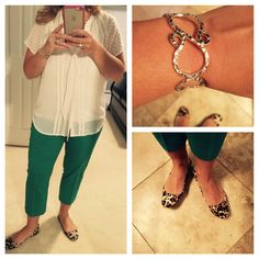 Day 2 Top & Capris: LOFT Cami: Stitch Fix Bracelet: Sterling silver bracelet purchased on our recent trip to St. Thomas.