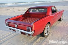 Sherri and Matt Clarke's 1965 Ford Mustang is one of a kind that is most likely to haul. Check out the details and the modifications that were made to this 'Stang. Ford Mustang 1964, Mustang Cars, Car Ford, Ford Trucks, Ford Mustangs, Pickup Trucks, Ford 4x4, Ford Lincoln Mercury, Weird Cars