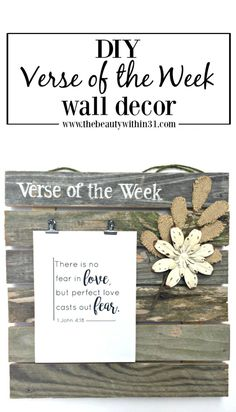 DIY verse of the week wall display: Here's how to make a wall display for your family's verse of the week.