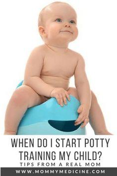 When Do I Start Potty Training my Child? - Mommy Medicine #PottyTrainingYourChild