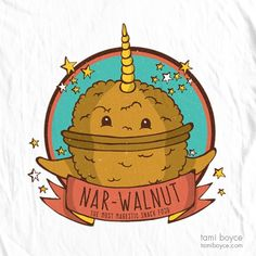 Nar-Walnut T-Shirt: Two greats collide! Show your love of deep sea creatures and a good source of protein in the Nar-Walnut T-Shirt! My T Shirt, Shirt Shop, Deep Sea Creatures, Good Sources Of Protein, Hot And Humid, Funny Tshirts, Doodles, My Arts, Cool Stuff