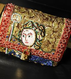 Roman rhinestone clutch