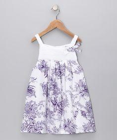 Purple Pintuck Floral Dress - Infant, Toddler & Girls