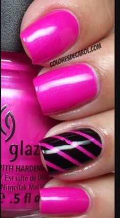 Love the pink on the black