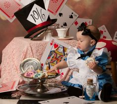 Beautiful and Magical Disney Inspired Baby Portraits/Pictures Alice in Wonderland