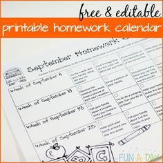 Way to Handle Kindergarten and Preschool Homework Make homework for preschool and kindergarten kids more meaningful with homework calendars. Grab a free editable September calendar to start with.The Kids Are Alright The Kids Are Alright can refer to: Kindergarten Reading Log, Kindergarten Calendar, Preschool Calendar, Kindergarten Homework, Kids Homework, Kindergarten Lesson Plans, Kids Calendar, Homework Ideas, Homework For Preschoolers