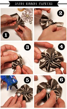 How to make Satin Ribbon flowers