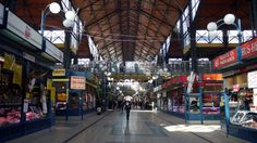 Inside the Grand Market Hall, Budapest, Hungary