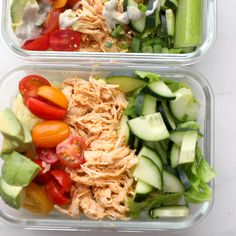 Buffalo Chicken Ranch Meal Prep Meal Prep)Thanks for this post.This buffalo chicken ranch meal prep is meal prep perfection! Totally loaded with flavor, protein, healthy fats, and fiber, this m# Buffalo Easy Healthy Meal Prep, Easy Healthy Recipes, Healthy Snacks, Healthy Eating, Healthy Fats, Clean Eating Lunches, Healthy Weight, Meal Prep Low Carb, Simple Meal Prep