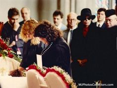 When Ryan White died Michael spends several hours inside the family home consoling Ryan's mother and sat next to her at Ryan's funeral.