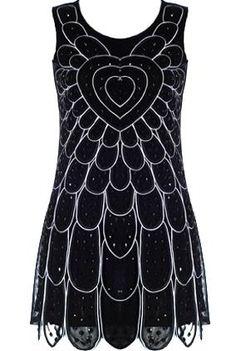 Embellished Flapper Dress | Retro Sequin Dresses | Rickety Rack