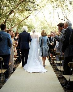 mother walking bride down aisle | Found on marthastewartweddings.com