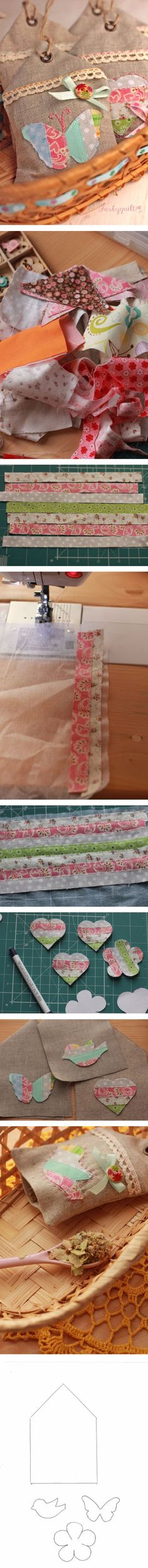 "How to sew sachets ""houses"""