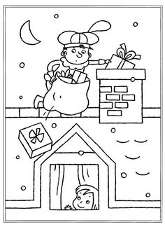 Kleurplaat Saint Nicolas, Santa Pictures, Coloring Pages, Photos, Cartoon, Drawings, Crafts, Bingo, Teaching
