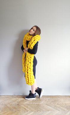 XXL scarf by Ohhio. #knitwear #knitting