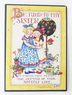 Mary Engelbreit me wall plaque be kind to the sister home decor