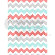 "Aqua Grey Coral Chevron 84"" Curtains on CafePress.com @Kayte Wilson"