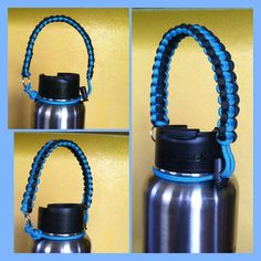 Wide mouth water bottle handles made with by HandyCreationsbyGina