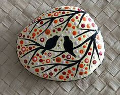 Love Painting Rock for Valentine Decorations Ideas