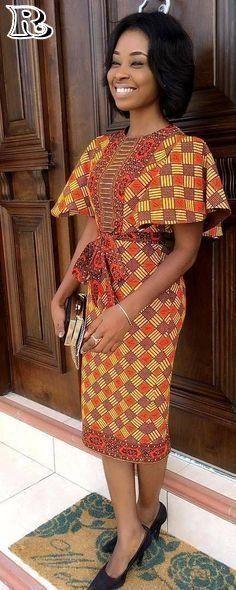 Beautiful ready-to-wear fashion outfit, African fashion, Ankara, kitenge, African women's dresse African Fashion Ankara, Ghanaian Fashion, Latest African Fashion Dresses, African Dresses For Women, African Print Fashion, Africa Fashion, African Attire, African Women, African Prints