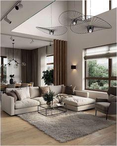 Home Living Room, Apartment Living, Interior Design Living Room, Living Room Designs, Interior Livingroom, Interior Paint, Cool House Designs, Living Room Inspiration, Home Decor Trends