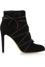 Gianvito RossiShearling-lined suede ankle boots