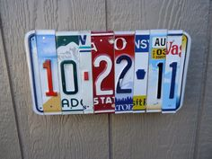 Anniversary date ❤️ License Plate Art, Anniversary Dates, Plates, Gifts, Design, Licence Plate Art, Licence Plates, Dishes, Presents