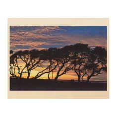 #wood - #Carolina Sunset Wood Print
