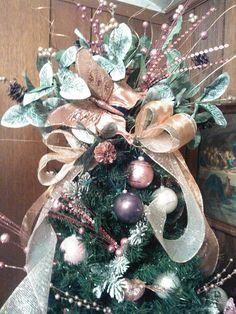 Christmas tree topper rose gold