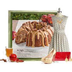 """""""Caramel Apple Bundt Cake Contest"""" by kginger on Polyvore"""
