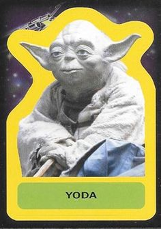 2015 Topps Star Wars Journey to the Force Awakens Stickers Yoda