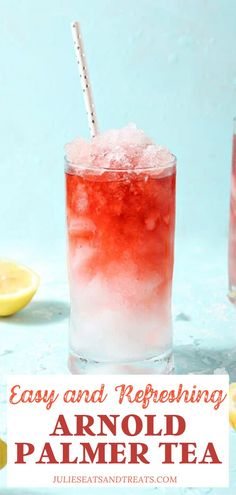 Named after a legendary golfer, the Arnold Palmer Tea is a refreshing combination of unsweetened tea and lemonade. Sip this mocktail on a hot day. Summer Drink Recipes, Drinks Alcohol Recipes, Non Alcoholic Drinks, Summer Drinks, Beverages, Cocktails, Arnold Palmer Tea, Kitchen Recipes, Cooking Recipes