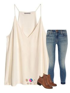 """superstar"" by hailstails ❤ liked on Polyvore featuring H&M, J Brand, Lucky Brand, Kate Spade, Kendra Scott and River Island"