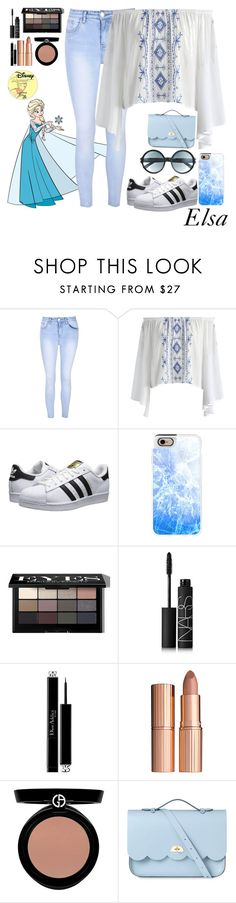 """Elsa"" by disneyonrepeat ❤ liked on Polyvore featuring Disney, Glamorous, Chicwish, adidas Originals, Casetify, Bobbi Brown Cosmetics, NARS Cosmetics, Christian Dior, Charlotte Tilbury and Giorgio Armani"