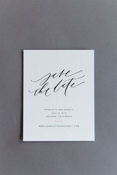 Karla Lim semi-custom suite Save the Date #weddinginvitation