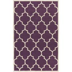 Found it at Wayfair - Transit Purple Geometric Piper Area Rug