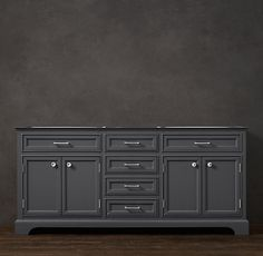 Charcoal Vanity color Love this color for my grandma's coffee table update