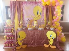 Bird Theme Parties, 1st Birthday Party For Girls, Baby First Birthday, Birthday Party Decorations, Birthday Ideas, Looney Tunes Party, Diy Baby Shower Centerpieces, Baby Shower Themes Neutral, Baby Shower Princess