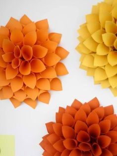 Paper Dahlias | DIY
