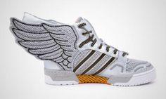 ADIDAS ORIGINALS BY JEREMY SCOTT WINGS 2.0 METALLIC SILVER #sneaker