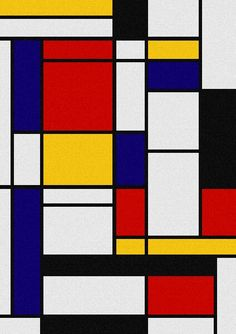 Composition with Large Red Plane, Yellow, Black, Gray and Blue ...