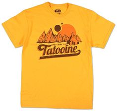 TShirt  Star Wars  New TatooineLargeYellow -- Read more reviews of the product by visiting the link on the image.
