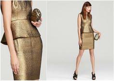 DVF Jacquard Peplum Dress - Engagement Party Dress