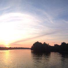 Zachód Słońca nad Wisłą.