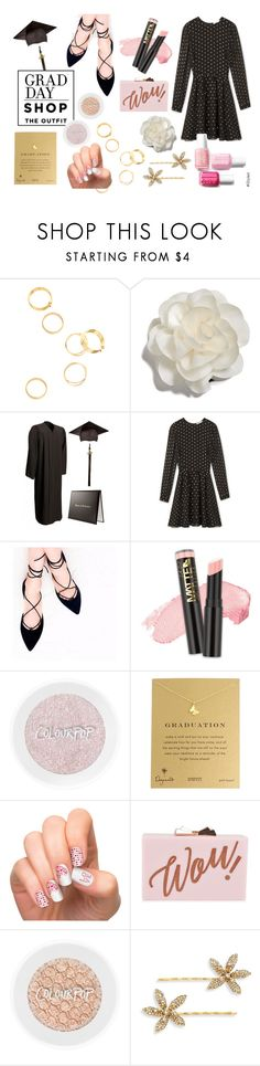 Grad Day by istyled on Polyvore featuring Rebecca Minkoff, Aquazzura, Ted Baker, Dogeared, Cara, Jennifer Behr and L.A. Girl