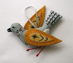 Turtle Dove Ornament by mmmcrafts