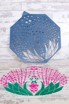 Rangoli Stencil for beautiful Maiyan Ceremonies #indian #sikh #hindu #maiyan #rangoli #designs #pattern #stencil