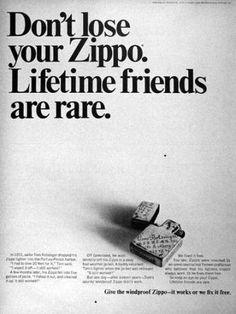 Zippo Ad, 1968