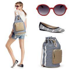 yes! Nautical Style, Nautical Fashion, Easy Outfits, Summer Outfits, High Fashion, Fashion Beauty, Womens Fashion, Hedda Gabler, Striped Backpack