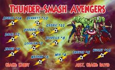 Avengers-Smash-Thunder-47400  digitally printed vinyl soccer sports team banner. Made in the USA and shipped fast by BannersUSA. www.bannersusa.com